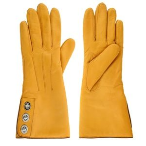 Coach Leather Women's Honey 3 Turnlock Gloves